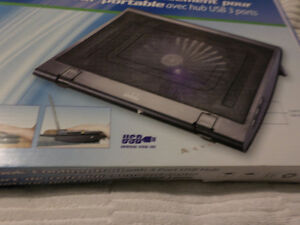 Notebook Cooling Pad with 2 Port USB Hub