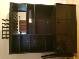 TV stand w/ wine rack