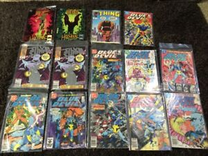 Marvel and DC comics from mid 80s