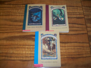 A Series of Unfortunate Events By Lemony Snicket Book lot of 3