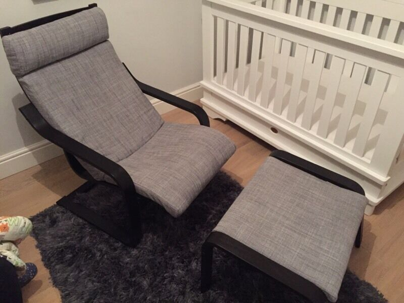 Ikea Poang Chair Gumtree Edinburgh ~ Poang IKEA arm chair with matching footstool  in Wandsworth, London