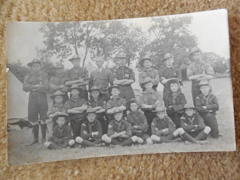 Scarce Vintage Early 1900s 1910s Boy Scouts Troop RPPC  Photo Postcard #46
