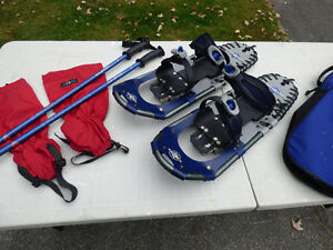 LLBean Snowshoes, Poles, Tatonka Gaiters and Carry Bag Cornwall Ontario image 1