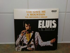 """VINTAGE ELVIS PRESLEY """"YOU GAVE ME A MOUNTAIN"""" plus two more 45"""