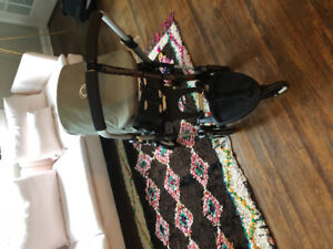 Bugaboo Bee with wheel board toddler attachment