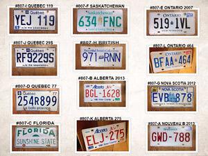 Plaque d'auto diverse villes #807