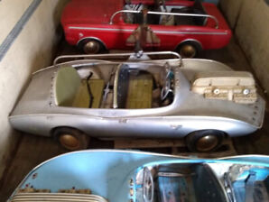 Six Vintage Carnival Ride Cars