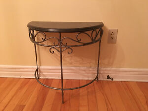 """half moon"" accent table, very sturdy"