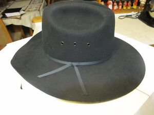 Stetson 5X Black Felt Cowboy Hat In Box Never Worn
