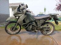 2008 KLR650 - 14K, Custom Green Paint