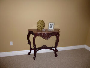 Carved elegant console with real granite top $45
