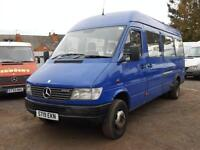 Mercedes-Benz SPRINTER 2.9 TD 412 D + TWIN WHEELS + LWB + MINIBUS + LOW MILEAGE