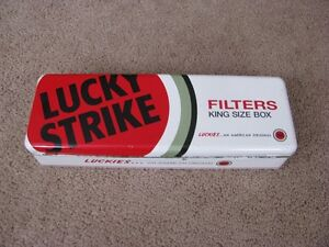 Lucky Strike Cigarette Tin