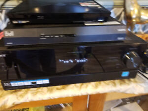 Sony receiver and Klipsch tower speakers
