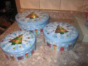 NEW CHRISTMAS TINS- for you christmas baking gifts