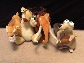 Ice Age Teddies (Diego,Sid,Manny,Scrat)