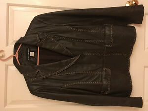 Brown soft leather jacket size 14 - Amherst