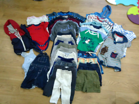 Spring summer baby boy cloth bundle 9-12 months