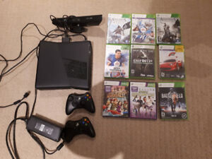 4G xbox 360 with kinect and games