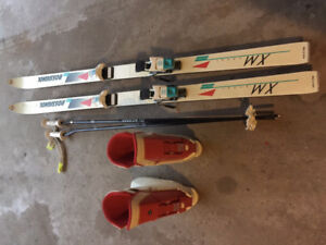 Used skis and boots for sale