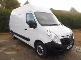 2013 13 VAUXHALL MOVANO 2.3CDTI 125BHP EURO 5 MWB EXTRA HIGH ROOF L2H3 1 OWNER