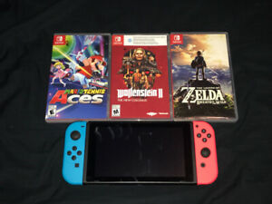 Nintendo switch + 3 Games