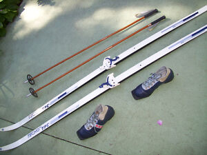 Complete Sets of Cross Country Skis for Sking Couple or Singles