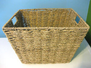 WICKER WOVEN WOOD BASKET - LARGE (Only 1 left!)