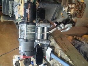 3000 lb warn winch setup for snowmachine