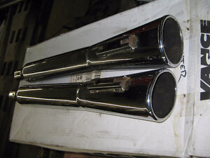 harley touring oval megaphone mufflers WILL SHIP