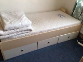 Single bed with storage & matching bedside unit
