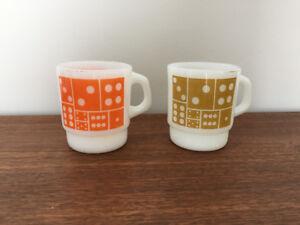 2 Tasses ** Fire-King ** 2 Cups / Mugs