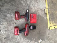 Snap On 1/2 inch battery impact gun and drill