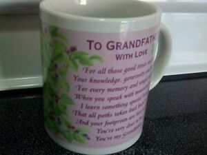 TO GRANDFATHER with Love coffee cup.