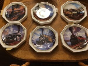 Franklin Mint Royal Doulton Train Plates