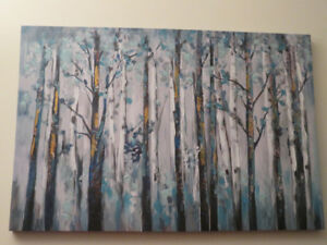 Painting, Trees, Abstract-Canvas Appearance, 24wide x 36long