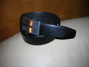 Hugo Boss Black Leather Belt and Buckle Two