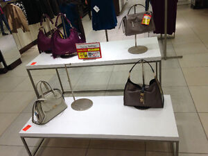 Retail fixtures for clothing boutique