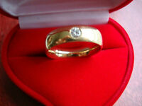 MEN'S DIAMOND RING / BAND in 8K GOLD