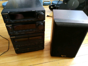 PANASONIC DECK AM/FM RADIO INFINITY SPEAKER READ DESCRIPTION