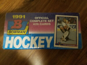 NHL Bowman 1991 Complete Hockey Card Set (429 Cards) Sealed!