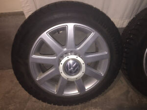 VW winter alloy rim and tire package