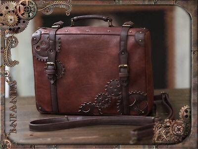 Vintage Lolita Steampunk Bag CrossBody Messenger Bag Handbag Unisex Cosplay Prop
