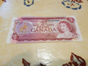 1974 Canadian $2 Bill