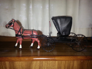 model Amish buggy and horse
