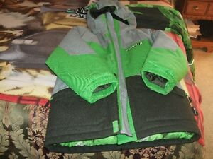 Grey/Green Monster Winter Jacket with snow pants (Size 12)