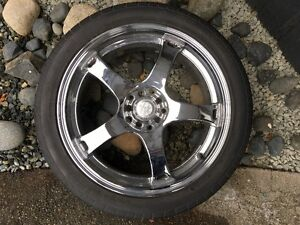 """18"""" Core racing erglanz rims and tires"""