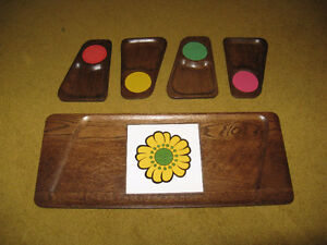 Wooden Serving Tray with Hot plate & 4 trays Edmonton Edmonton Area image 1