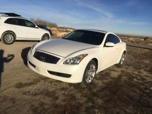 2010 Infiniti G37x White Coupe