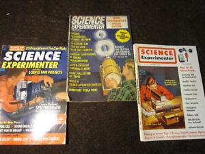 3 issues Science Experimenter magazine